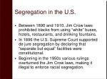 segregation in the u s