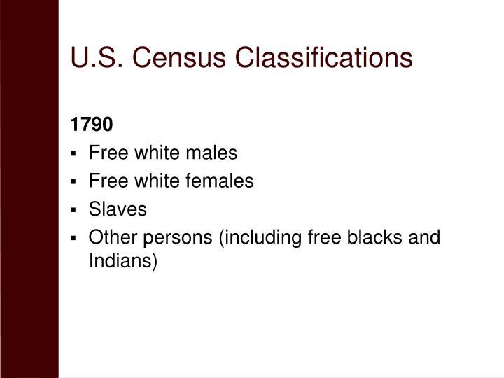 U.S. Census Classifications