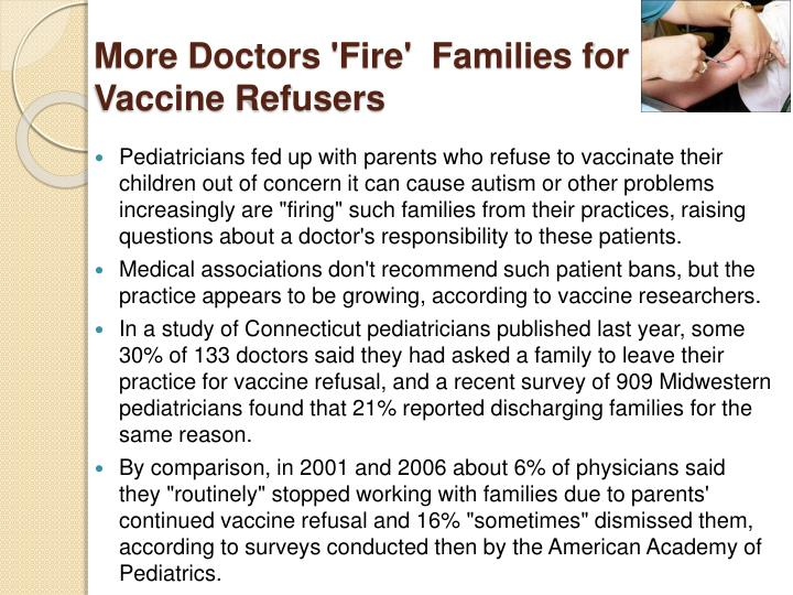 More Doctors 'Fire'  Families for