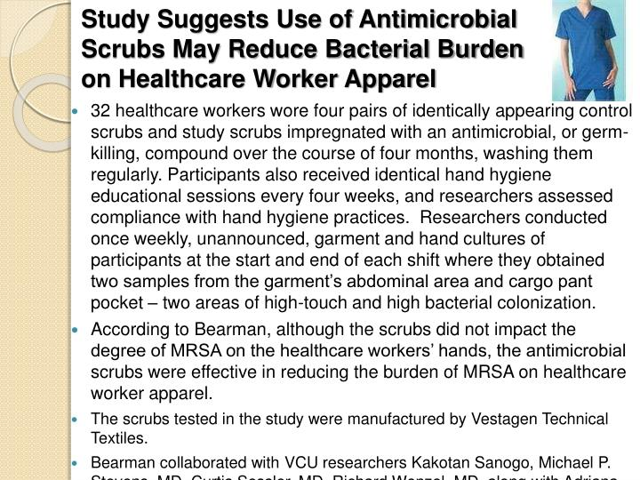 Study Suggests Use of Antimicrobial