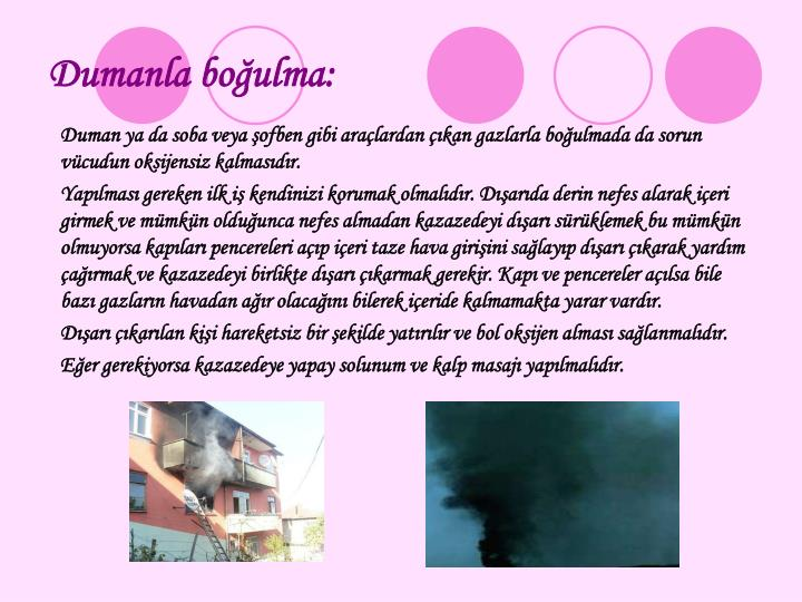 Dumanla boulma: