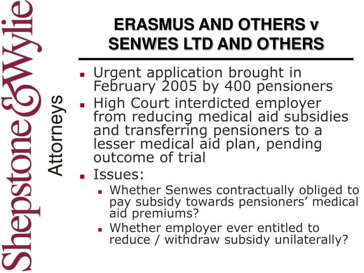 ERASMUS AND OTHERS v SENWES LTD AND OTHERS
