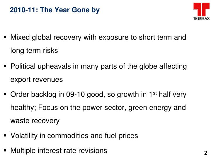 2010-11: The Year Gone by