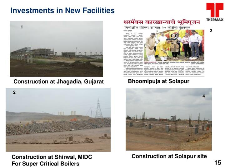Investments in New Facilities