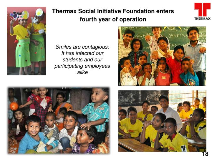 Thermax Social Initiative Foundation enters fourth year of operation