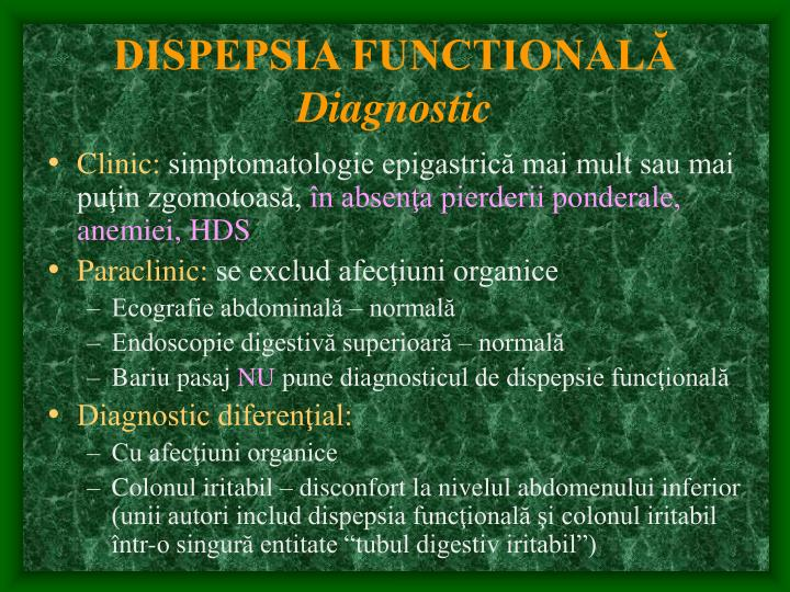 DISPEPSIA FUNCTIONALĂ