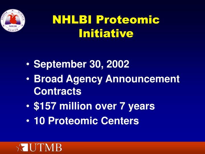 NHLBI Proteomic Initiative