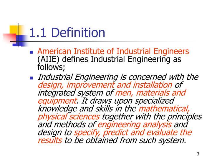 1.1 Definition