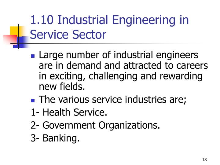 1.10 Industrial Engineering in Service Sector