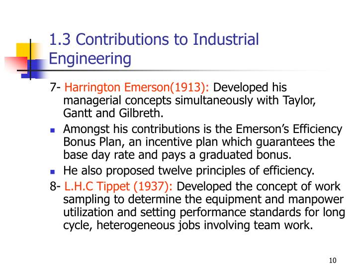 1.3 Contributions to Industrial Engineering