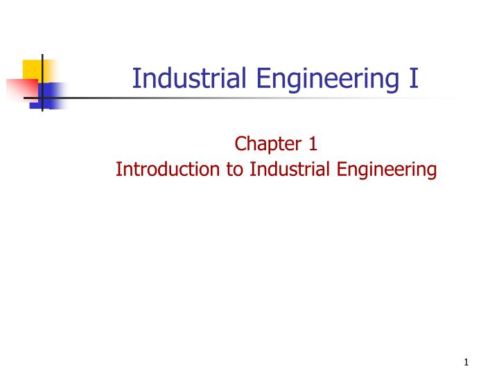 Industrial engineering i