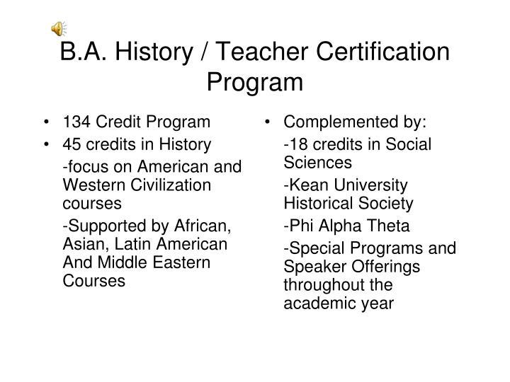 134 Credit Program