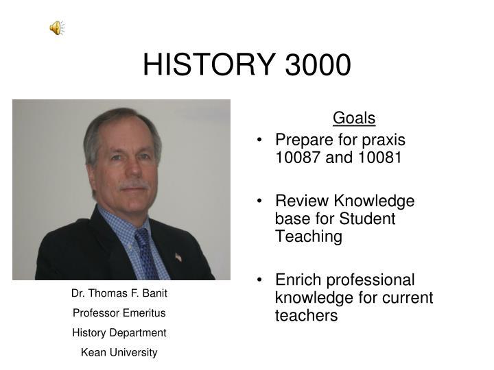 HISTORY 3000