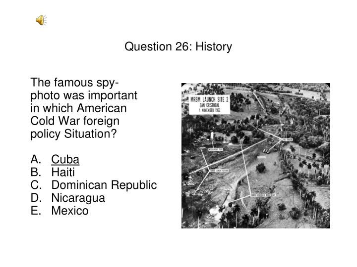 Question 26: History