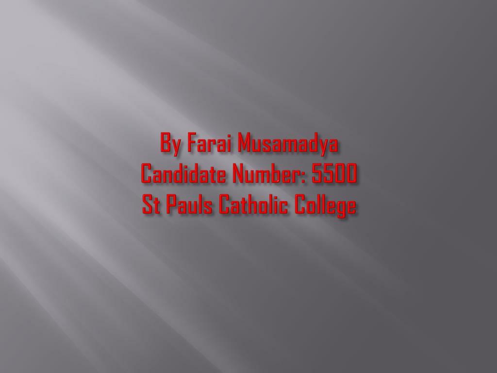 By Farai Musamadya