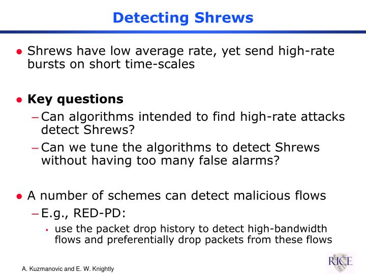 Detecting Shrews