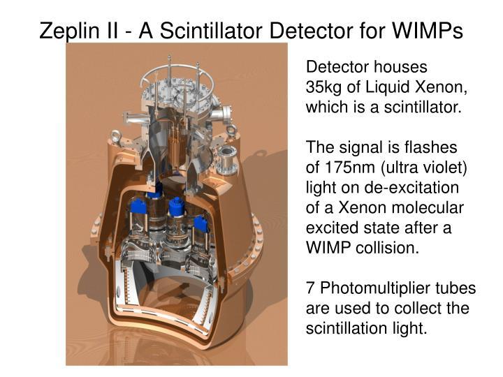 Zeplin II - A Scintillator Detector for WIMPs