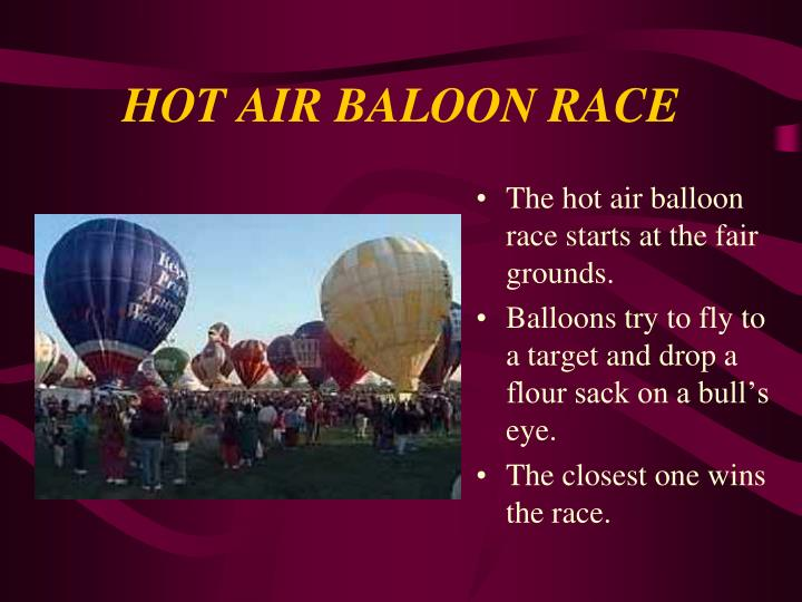 HOT AIR BALOON RACE