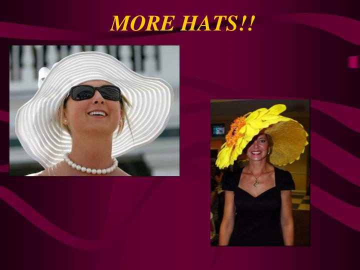 MORE HATS!!