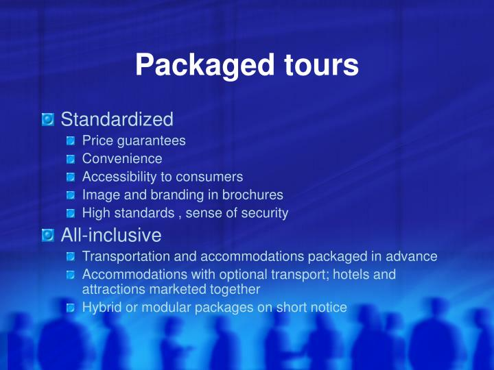 Packaged tours