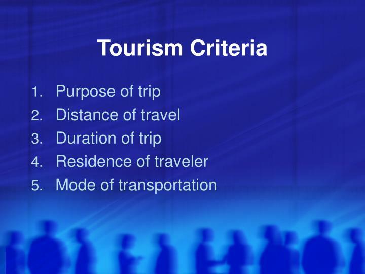 Tourism Criteria