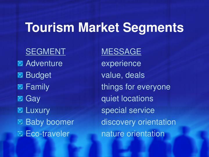 Tourism Market Segments