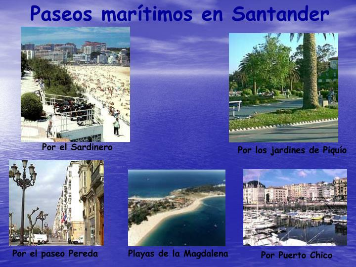 Paseos marítimos en Santander