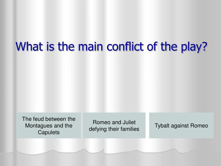 What is the main conflict of the play?