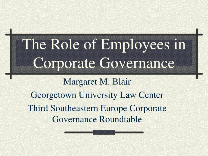 importance of solid corporate governance Good governance in the public sector— consultation draft for an international framework consultation draft june 2013 comments due: september 17, 2013.
