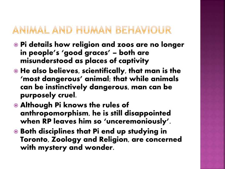 ANIMAL AND HUMAN BEHAVIOUR
