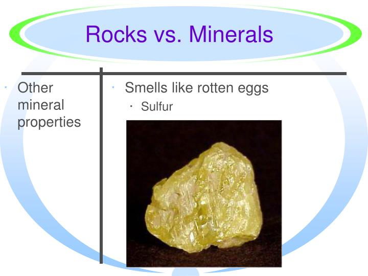 Other mineral properties