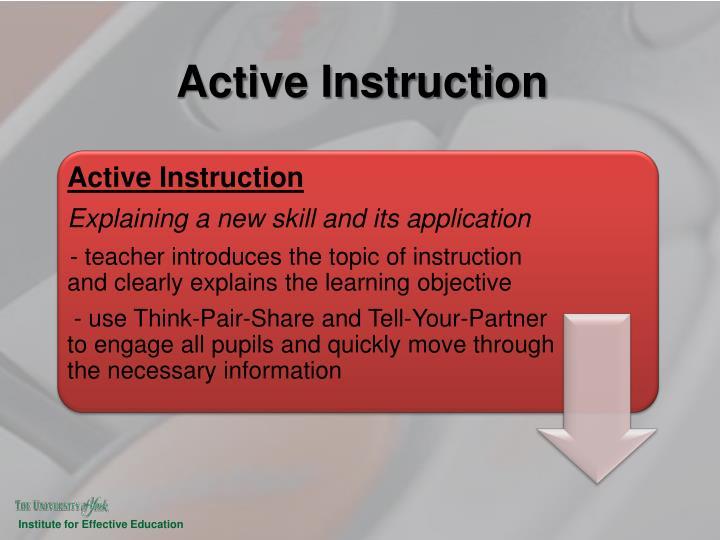 Active Instruction