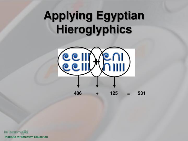 Applying Egyptian Hieroglyphics