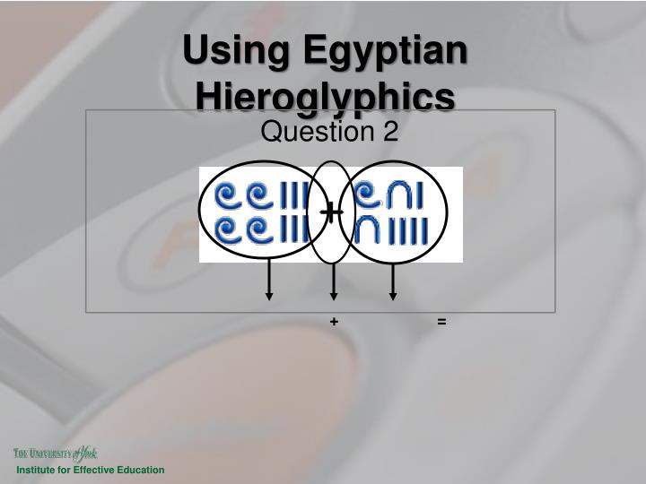 Using Egyptian Hieroglyphics