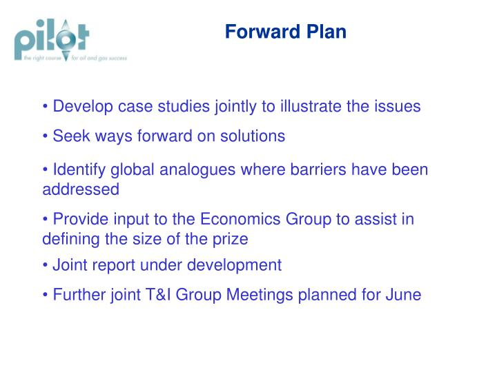 Forward Plan