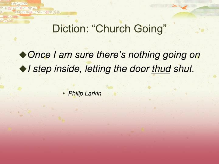 "Diction: ""Church Going"""