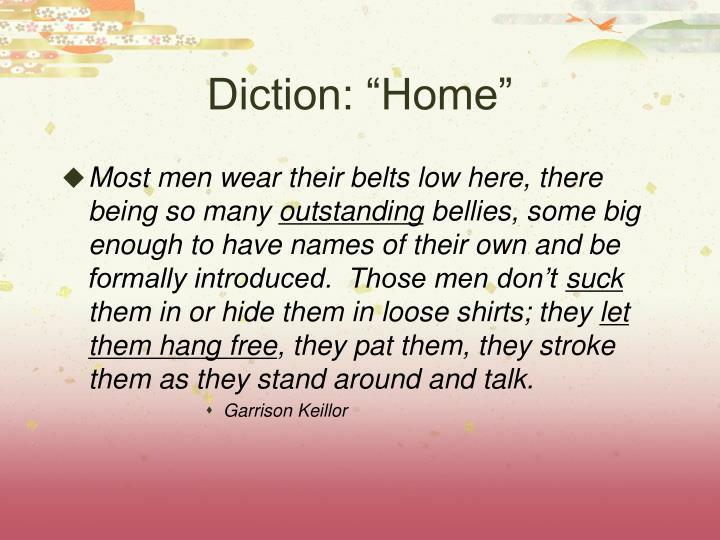 "Diction: ""Home"""