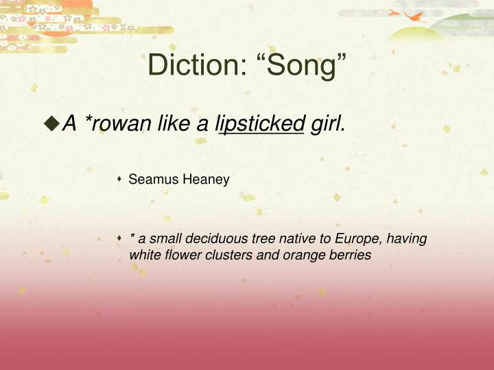 Diction song