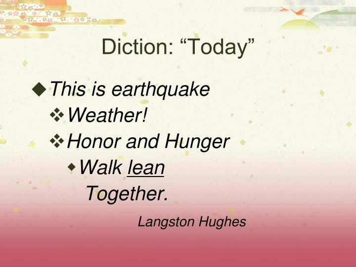 "Diction: ""Today"""