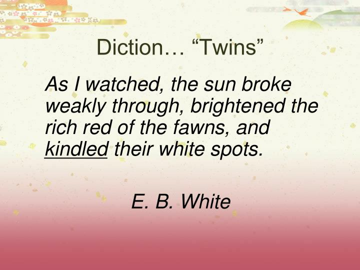 "Diction… ""Twins"""