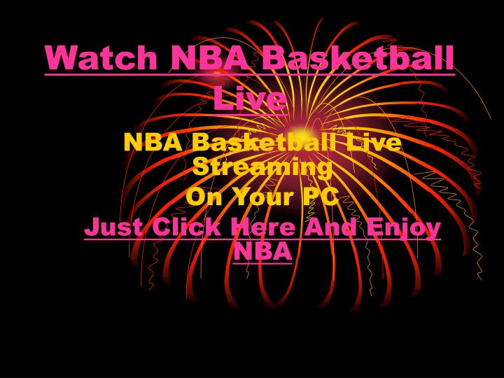 Watch nba basketball live
