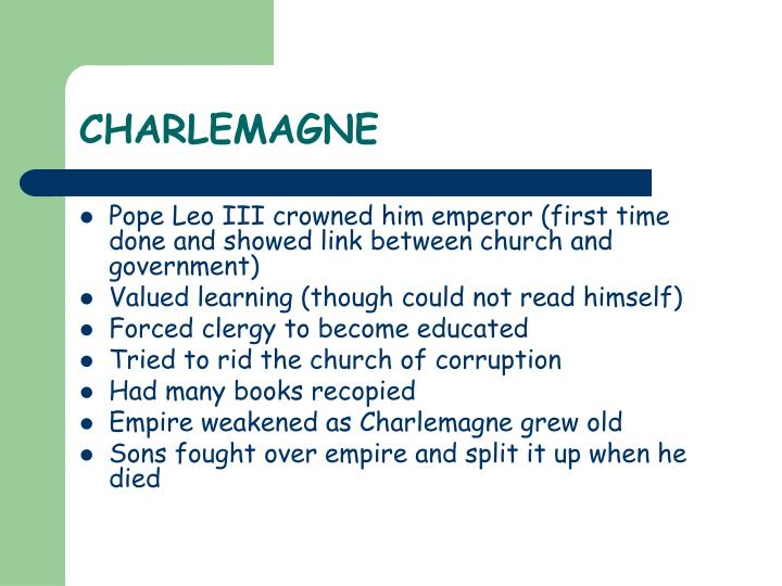 what was the relationship between charlemagne and pope like