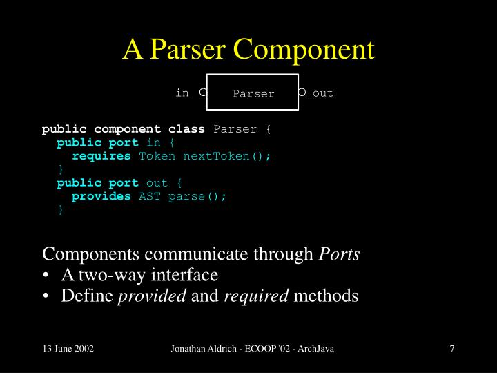 A Parser Component