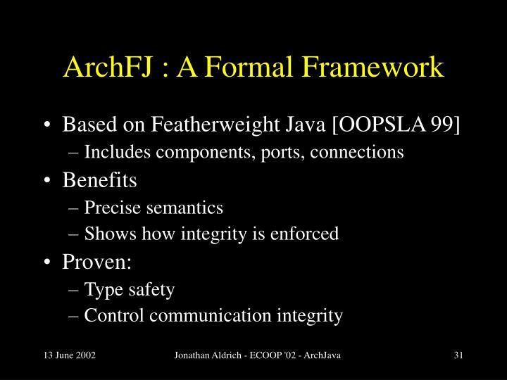 ArchFJ : A Formal Framework