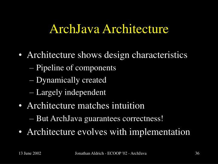 ArchJava Architecture