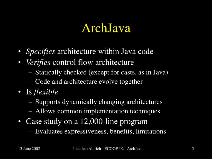 ArchJava