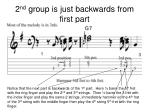 2 nd group is just backwards from first part