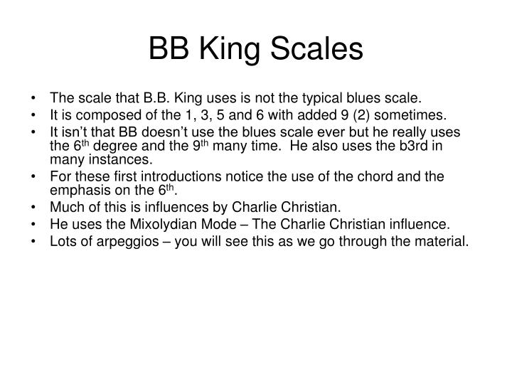 BB King Scales