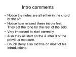 intro comments