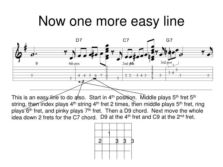 Now one more easy line